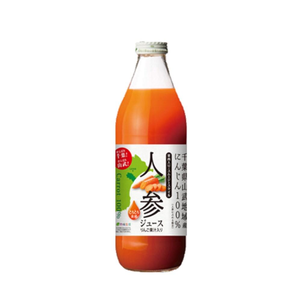 千葉応援!人参ジュース(りんご果汁入り) 1000ml