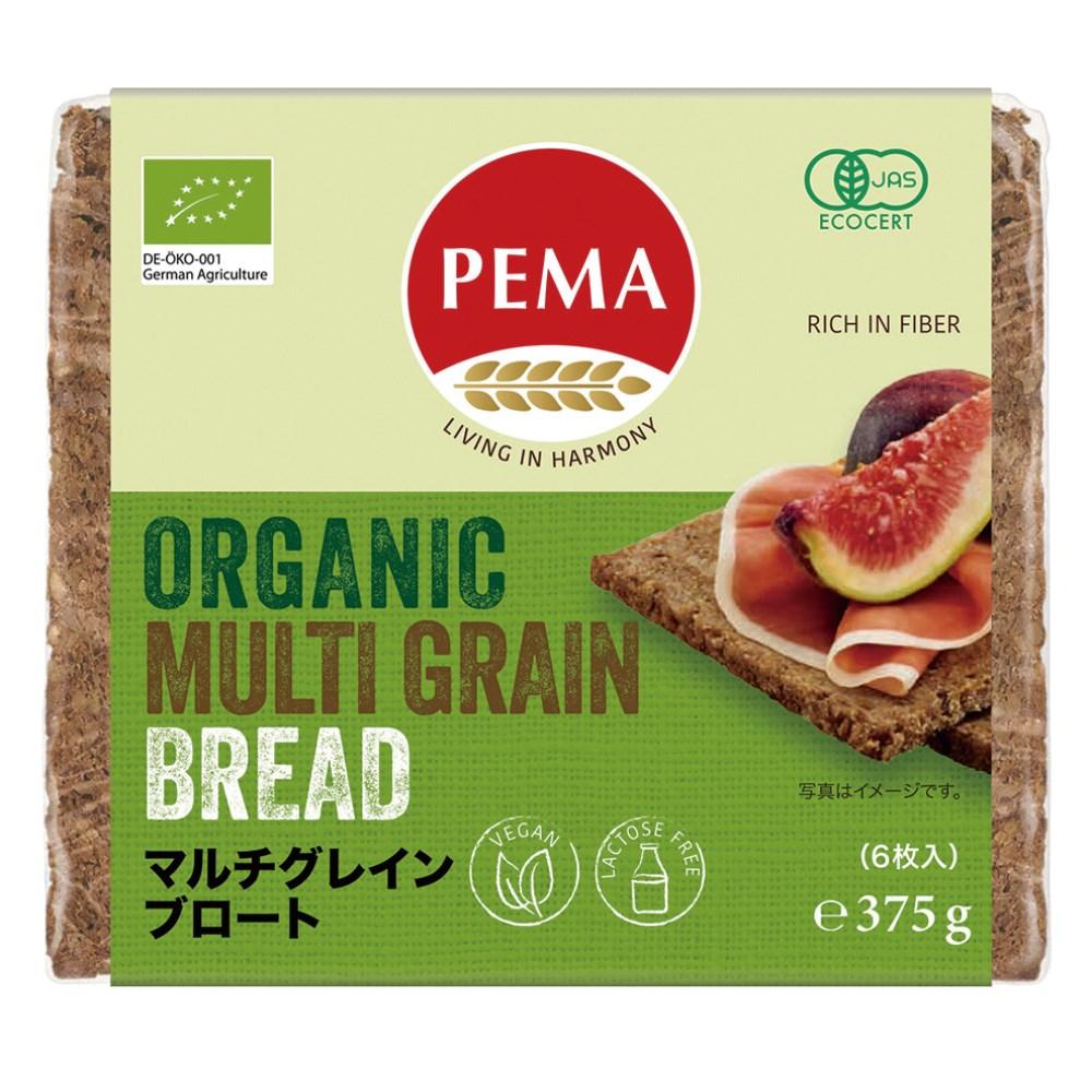 PEMA 有機全粒ライ麦パン(マルチグレインブロート) 375g(6枚)