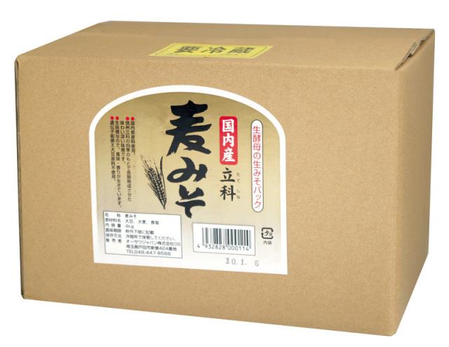 国内産立科麦みそ (箱入り) 3.6kg