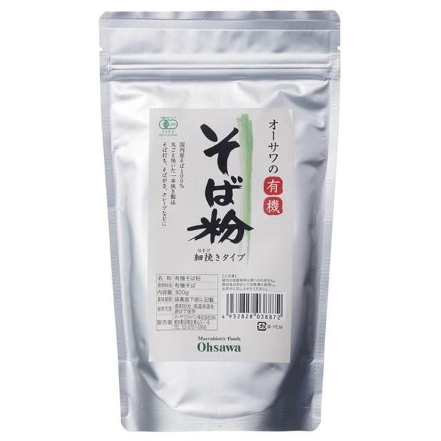 オーサワの有機そば粉(細挽き) 300g
