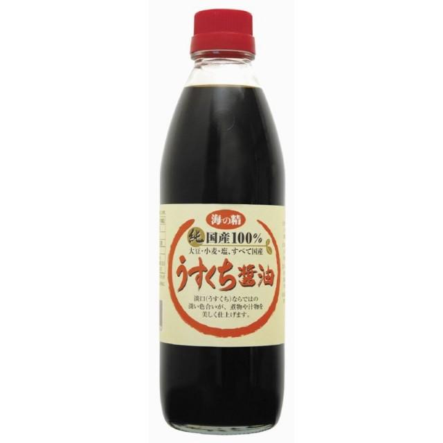 海の精 国産うすくち醤油 500ml