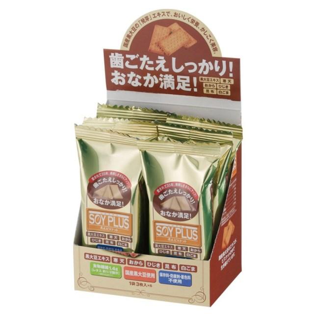 SOY PLUS(ソイプラス) 寿元(じゅげん)ビスケット 3枚(約40g)×6袋入