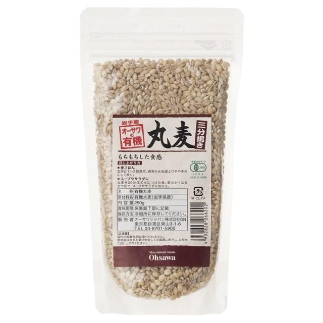オーサワの有機丸麦(三分搗き) 250g
