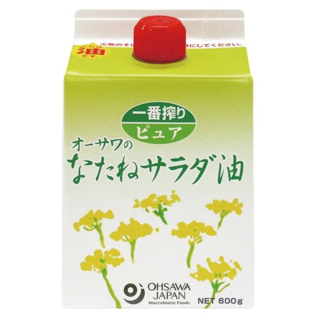 オーサワのなたねサラダ油(紙パック) 600g