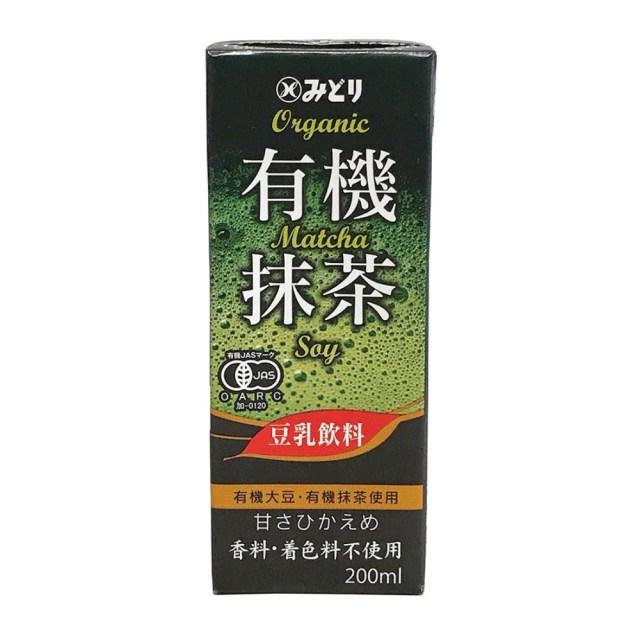 みどり 有機豆乳飲料  抹茶 200ml