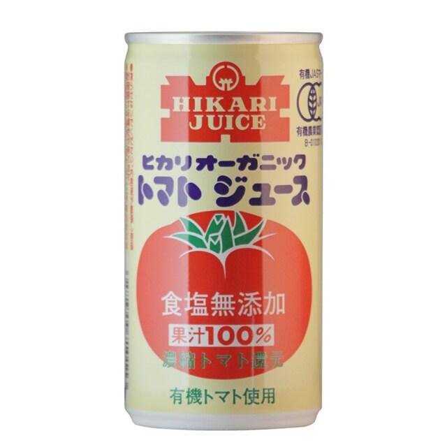 ヒカリ オーガニック トマトジュース(食塩無添加) 190g
