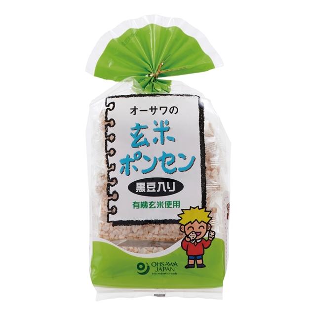 オーサワの玄米ポンセン(黒豆入り) 8枚