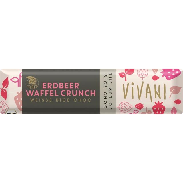 ViVANI(ヴィヴァーニ) オーガニック ライスミルクチョコレートバー ストロベリー ワッフル 35g