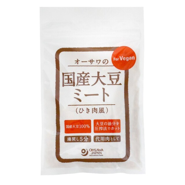 オーサワの国内産大豆ミート(ひき肉風) 100g