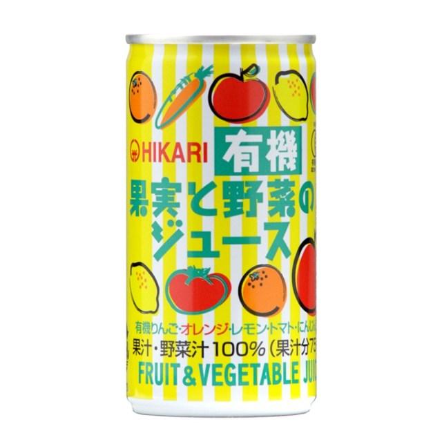 ヒカリ 有機果実と野菜のジュース 190g