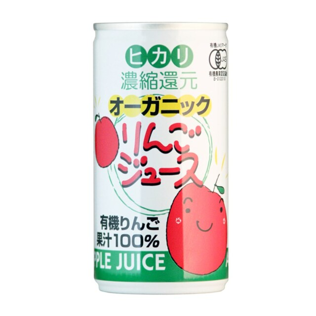 ヒカリ オーガニックりんごジュース 190g