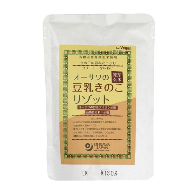 オーサワの発芽玄米豆乳きのこリゾット 180g