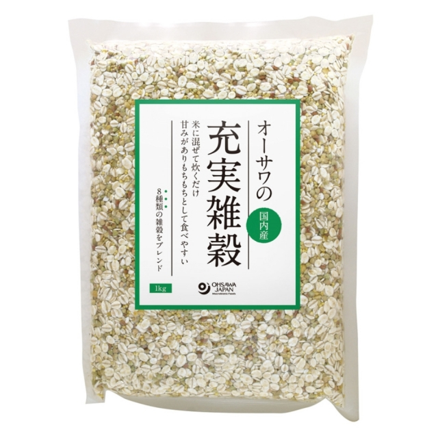 オーサワの充実雑穀(国内産) 1kg