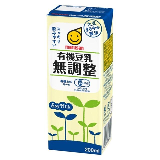 有機豆乳 無調整 200ml