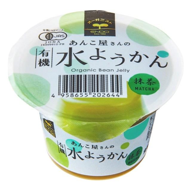 あんこ屋の有機水ようかん(抹茶) 100g