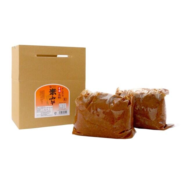 オーサワの有機立科米みそ(箱入り) 3.6kg 【製造待ちの為休止中】