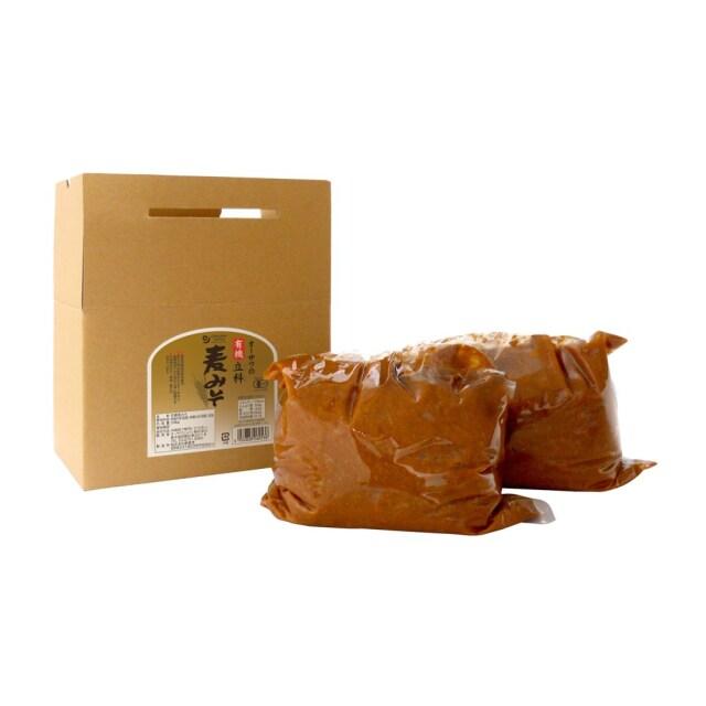 オーサワの有機立科麦みそ (箱入り) 3.6kg