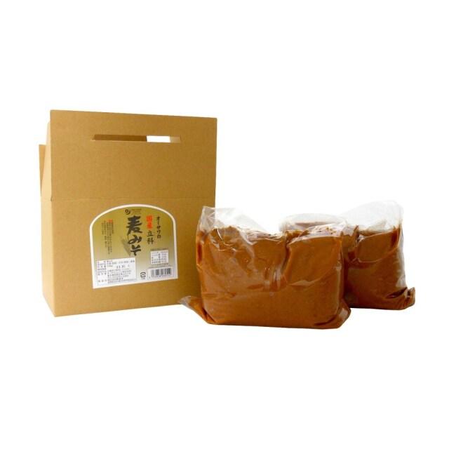オーサワの国産立科麦みそ (箱入り) 3.6kg