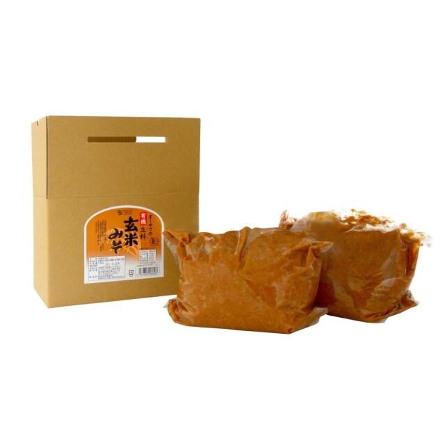 オーサワの有機立科玄米みそ (箱入り) 3.6kg