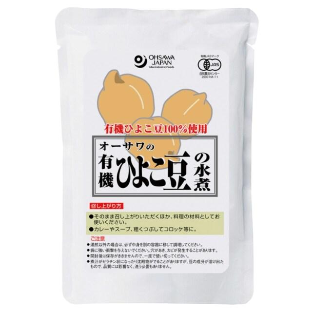 有機ひよこ豆の水煮 230g(固形量140g)