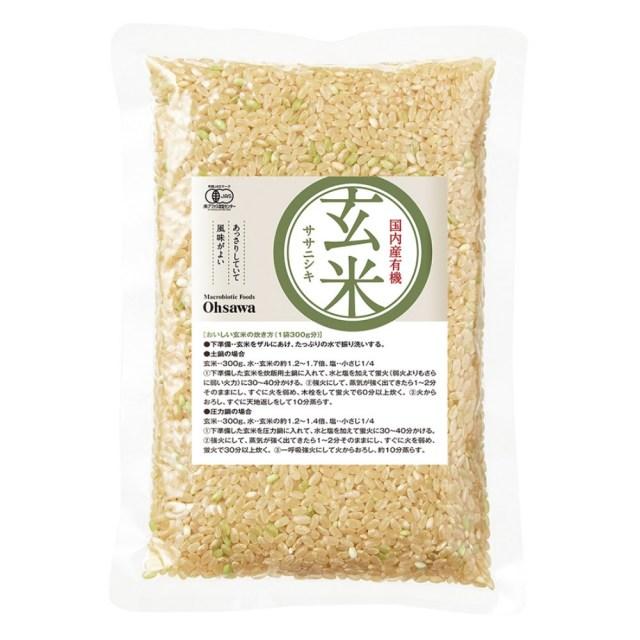 有機玄米(ササニシキ)国内産 300g
