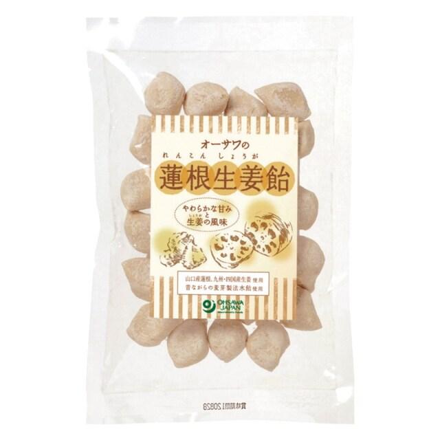 オーサワの蓮根生姜飴 100g【季節品のため休止中】