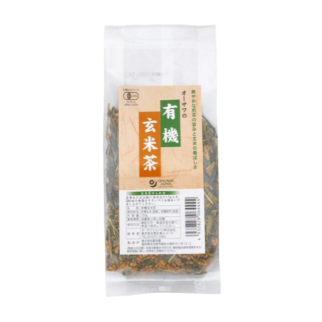 オーサワの有機玄米茶 150g