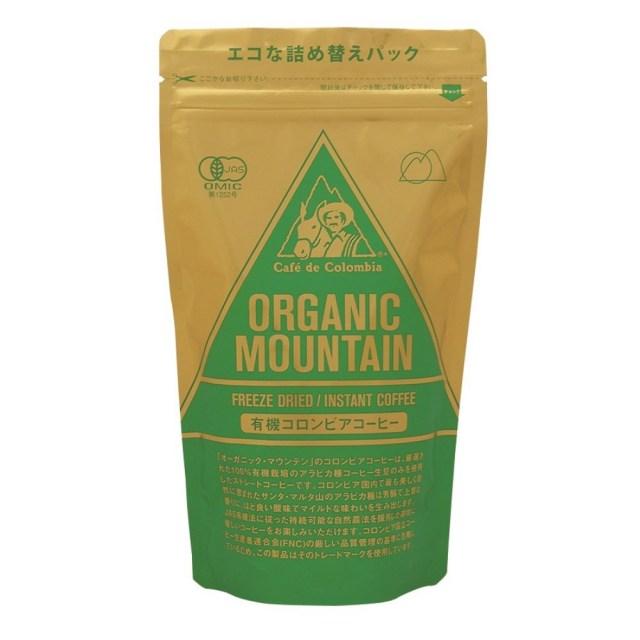 オーガニック マウンテン有機インスタント コーヒー (袋) 80g