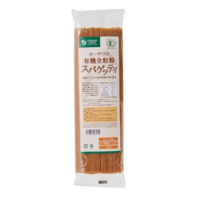 オーサワの有機全粒粉スパゲッティ 500g