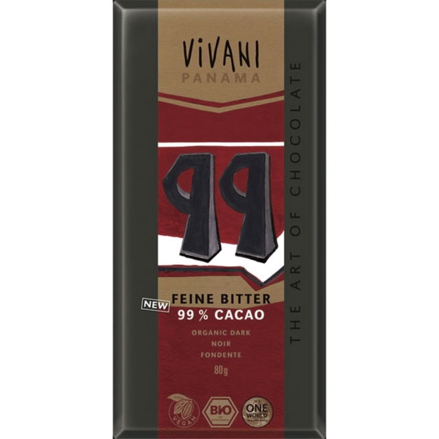 【冷蔵品】 ViVANI(ヴィヴァーニ) オーガニック エキストラダークチョコレート 99% 80g【季節品の為休止中】