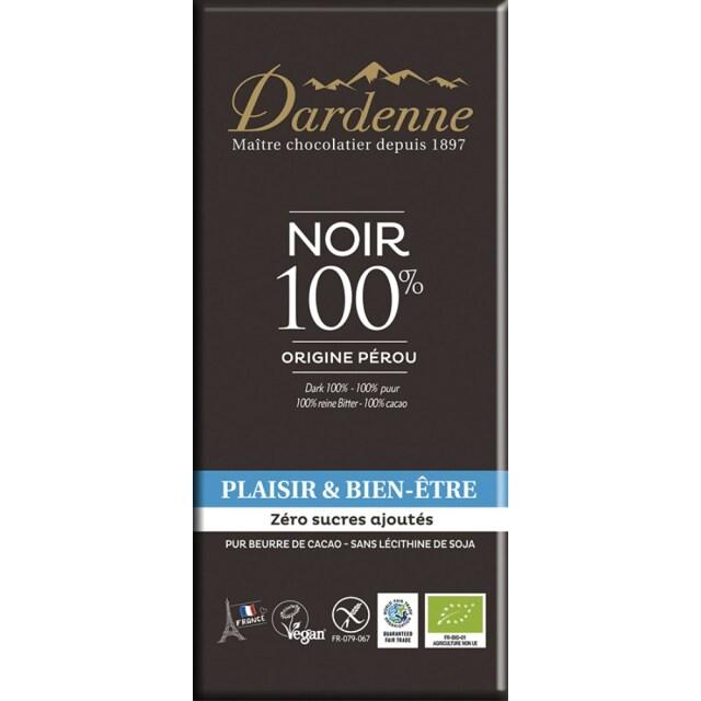 【冷蔵品】ダーデン 有機チョコレート ダーク 100% 70g