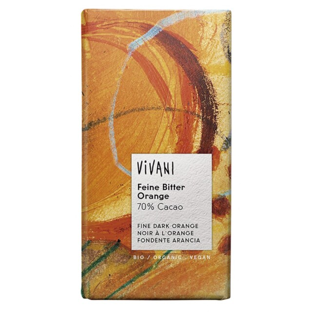 【冷蔵品】 ViVANI(ヴィヴァーニ) ViVANIオーガニックダークチョコレート オレンジ 100g