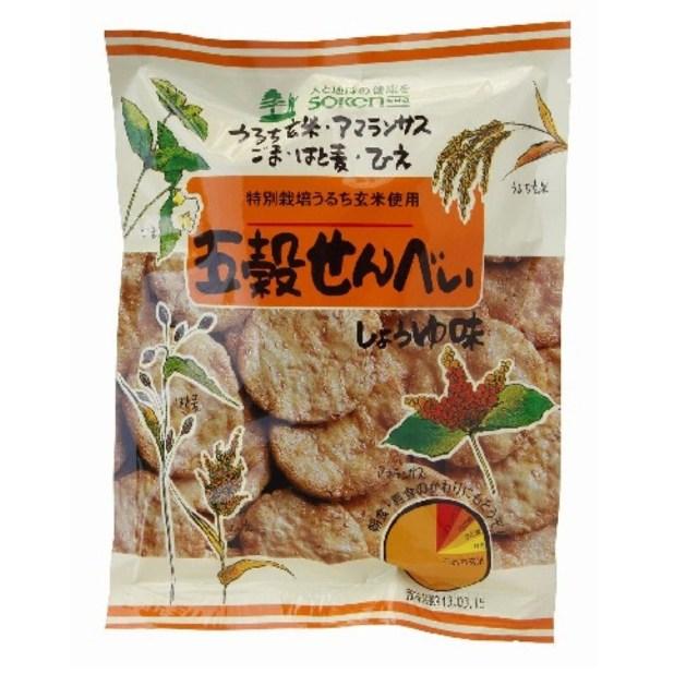 【リマセレクション】 五穀せんべい しょうゆ味 90g