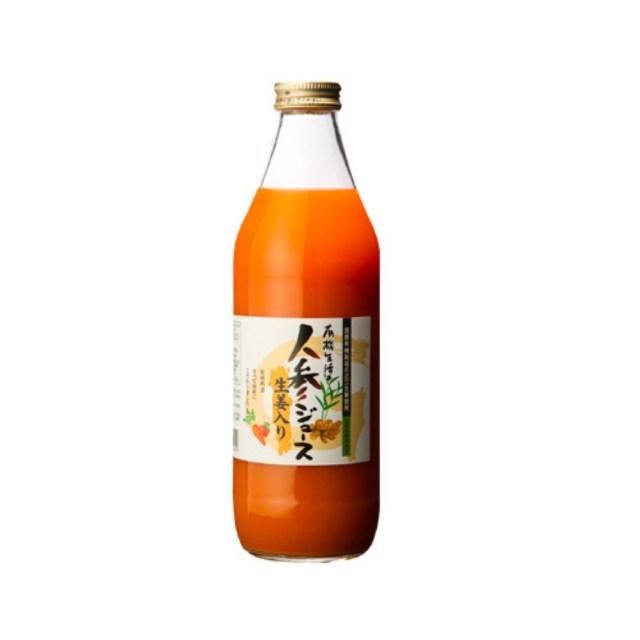 【リマ特選産直品】 イー・有機生活 人参ジュース1本+生姜入2本(各1,000ml)