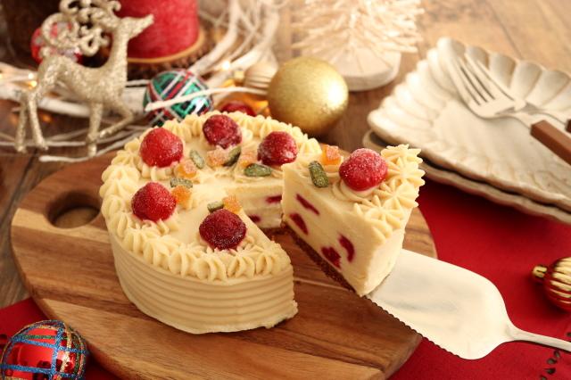 【リマ特選産直品】 ★予約品・数量限定★ ビオクラ 米粉と苺のクリスマスケーキ 約650g