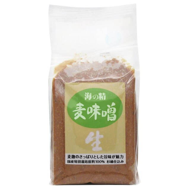 海の精 国産特栽 麦味噌 1kg