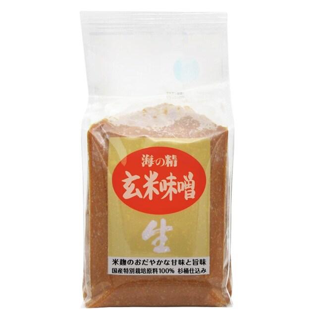 海の精 国産特栽 玄米味噌 1kg