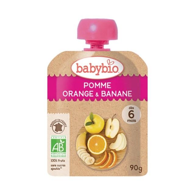 【10%OFF】   baby bio(ベビー ビオ) 有機ベビースムージー(アップル・オレンジ・バナナ) 90g