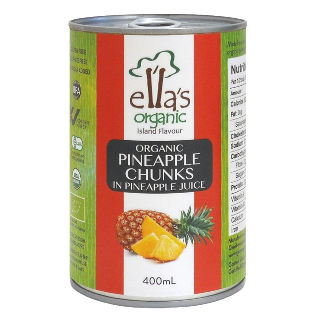 オーガニックパインアップル缶詰 400g(固形量230g)