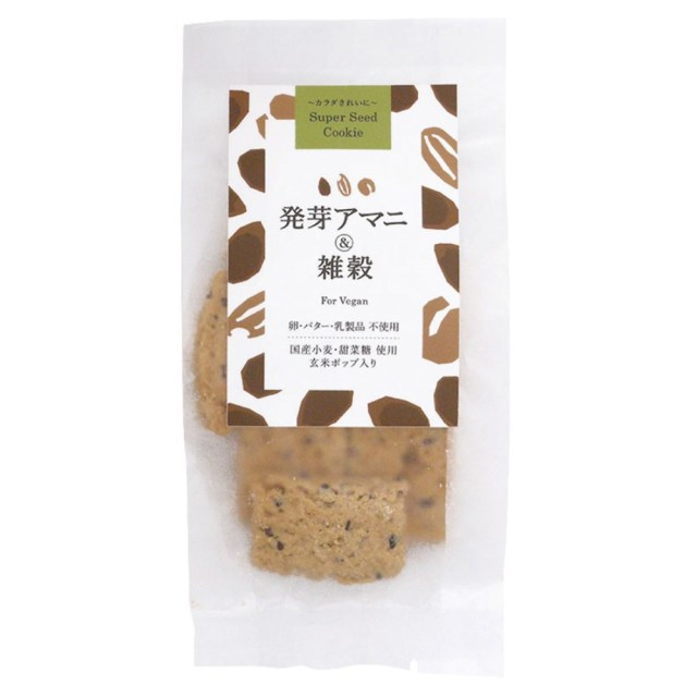 スーパーシードクッキー 発芽アマニ&雑穀 40g