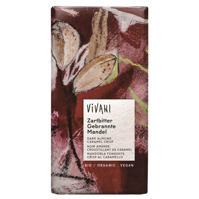 ViVANI(ヴィヴァーニ) オーガニック ダークチョコレート アーモンド キャラメルクリスプ 80g 【季節品のため休止中】