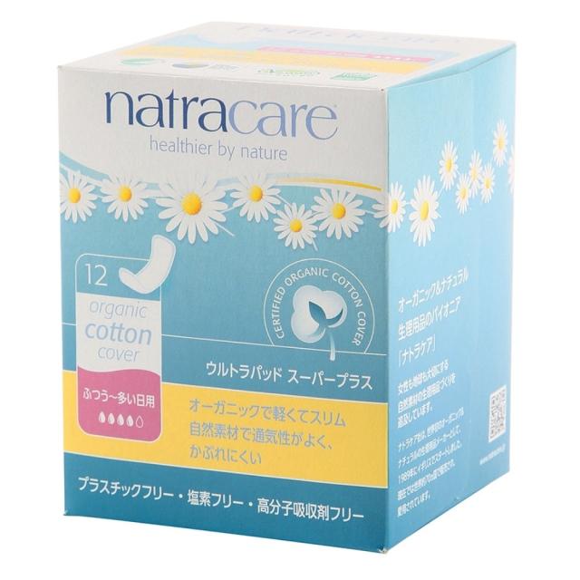 ナトラケア ウルトラパッド スーパープラス(生理用ナプキン)ふつう~多い日用 羽なし 12個入