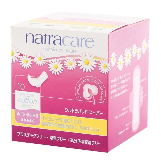 ナトラケア ウルトラパッド スーパー(生理用ナプキン)ふつう~多い日用 羽つき 10個入