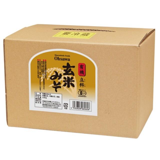 有機立科玄米みそ (箱入り) 3.6kg