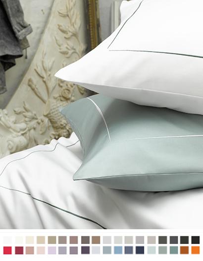クッションカバー【45cmスクエア】全37色 エジプト綿(サテン織り・300TC) 【Allura】