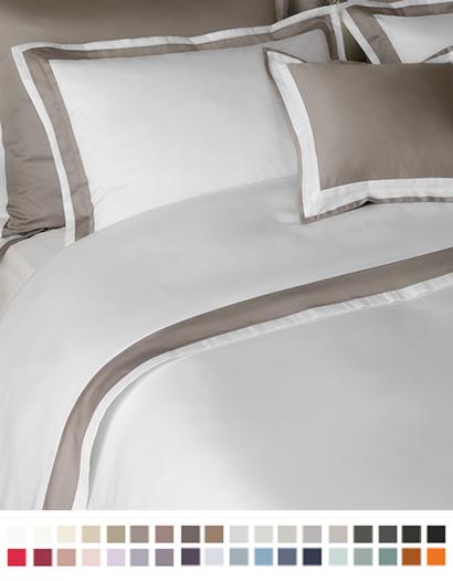 フラットシーツ【キング】全37色 エジプト綿(サテン織り・300TC) 【Banzi】