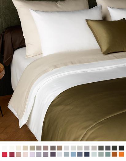 ボックスシーツ【ワイドキング】全37色 エジプト綿(サテン織り・300TC) 【Pella】