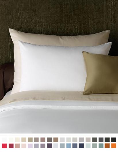 枕カバー【スタンダード】全37色 エジプト綿(サテン織り・300TC) 【Pella】