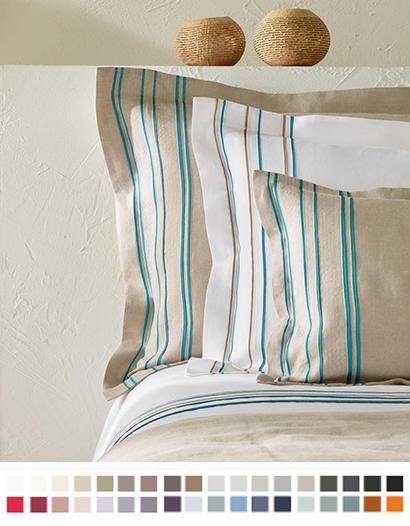枕カバー縁付き【キング】全37色 エジプト綿(サテン織り・300TC) 【Quelea】