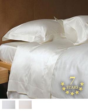 ボックスシーツ【シングル】全2色 エジプト綿(サテン織り・600TC) 【7ツ星ホテル】